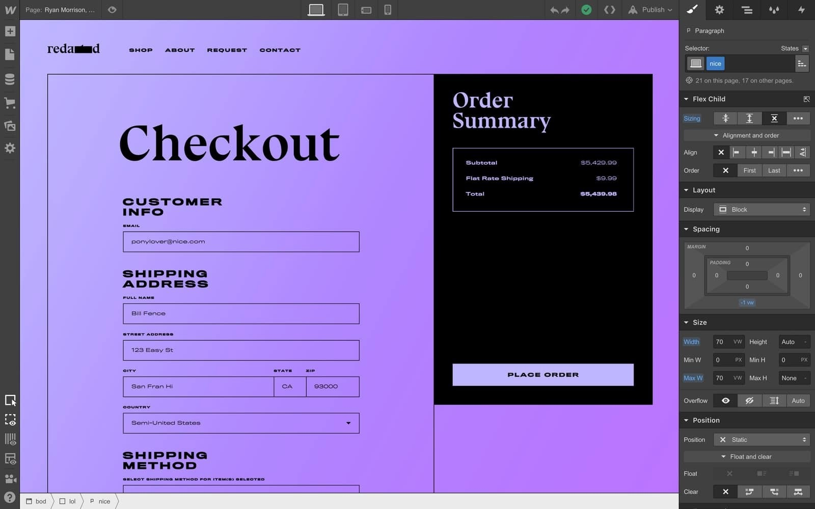 Customize your cart and checkout experience with Webflow