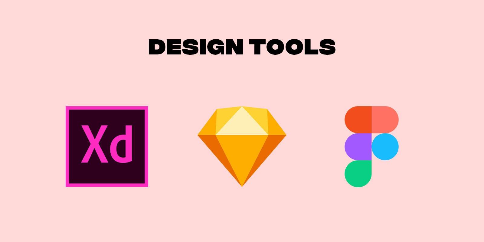 Web design software Adobe XD, Figma and Sketch