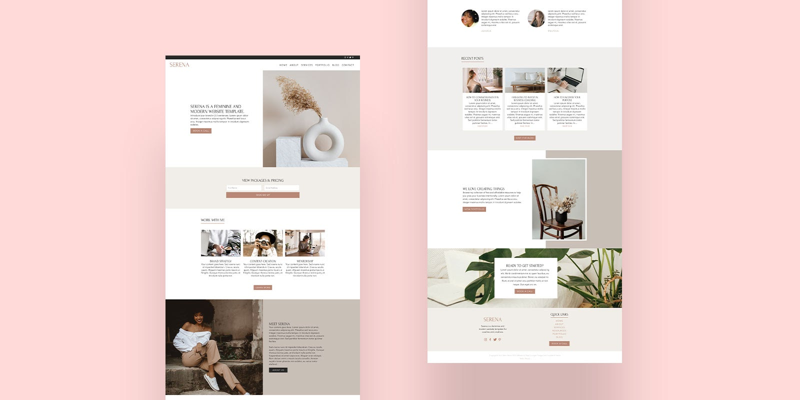 Example of a high-fidelity mockup created by Steph Corrigan Design