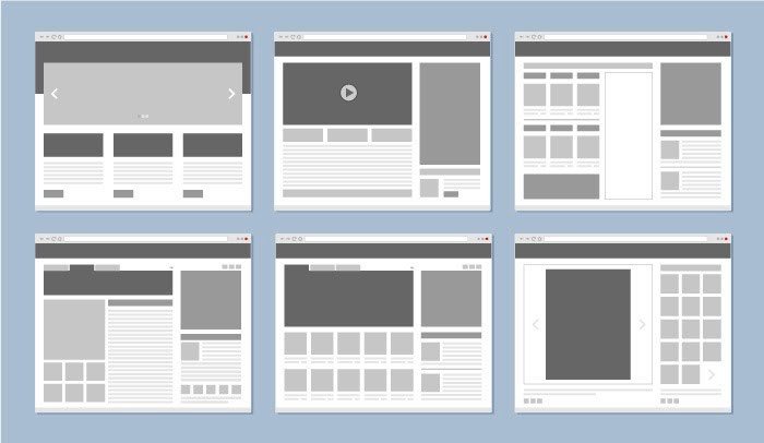 Low-fidelity wireframe with shades of gray