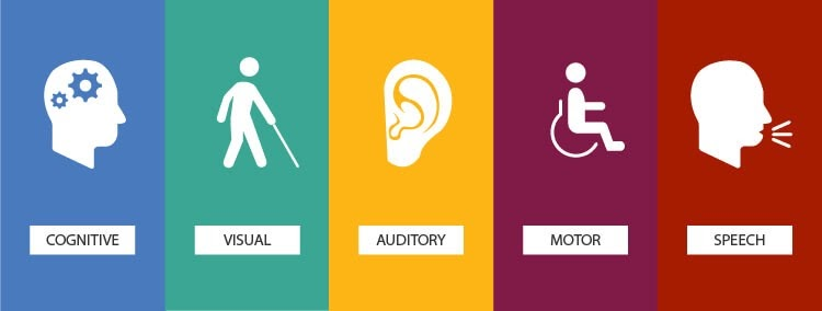 Making your website accessible means you're including those with cognitive, visual, auditory, motor, and speech disabilities (source)