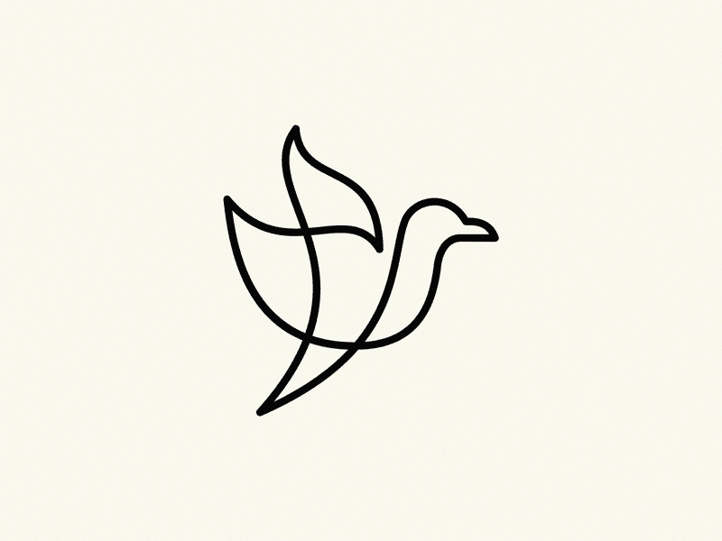 Example of a simple line drawing by Yuri Kartashev that functions beautifully as a logomark.