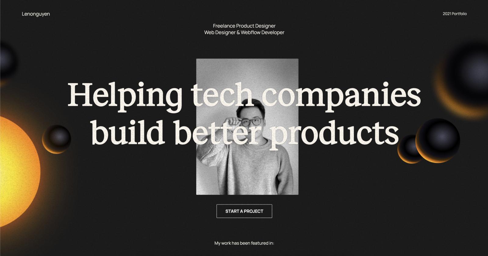 A stunning portfolio redesign (source)