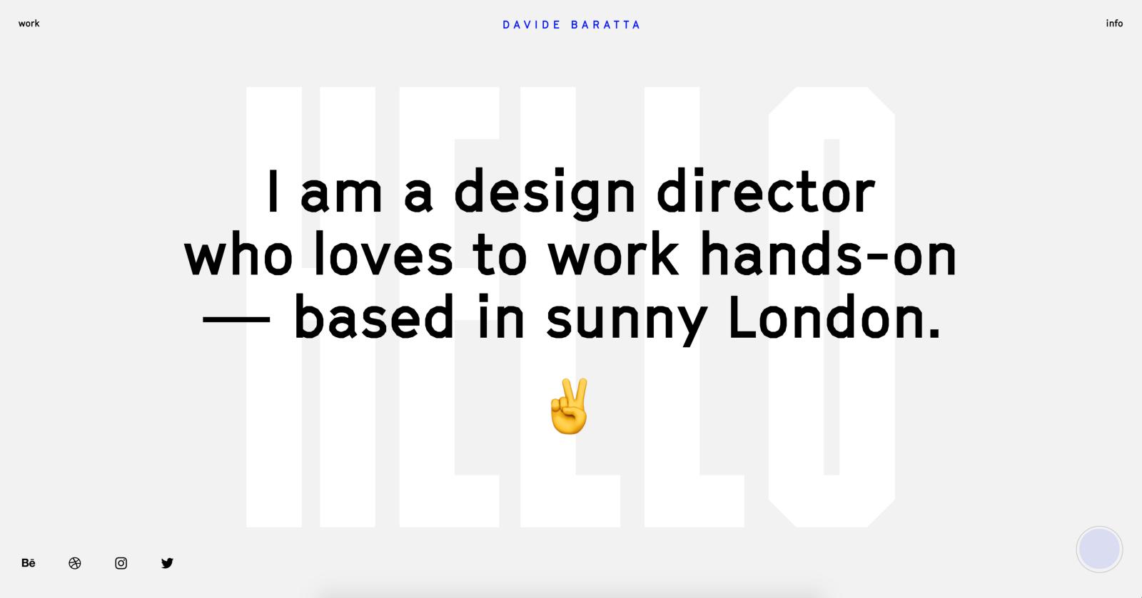 A web design portfolio example (source)