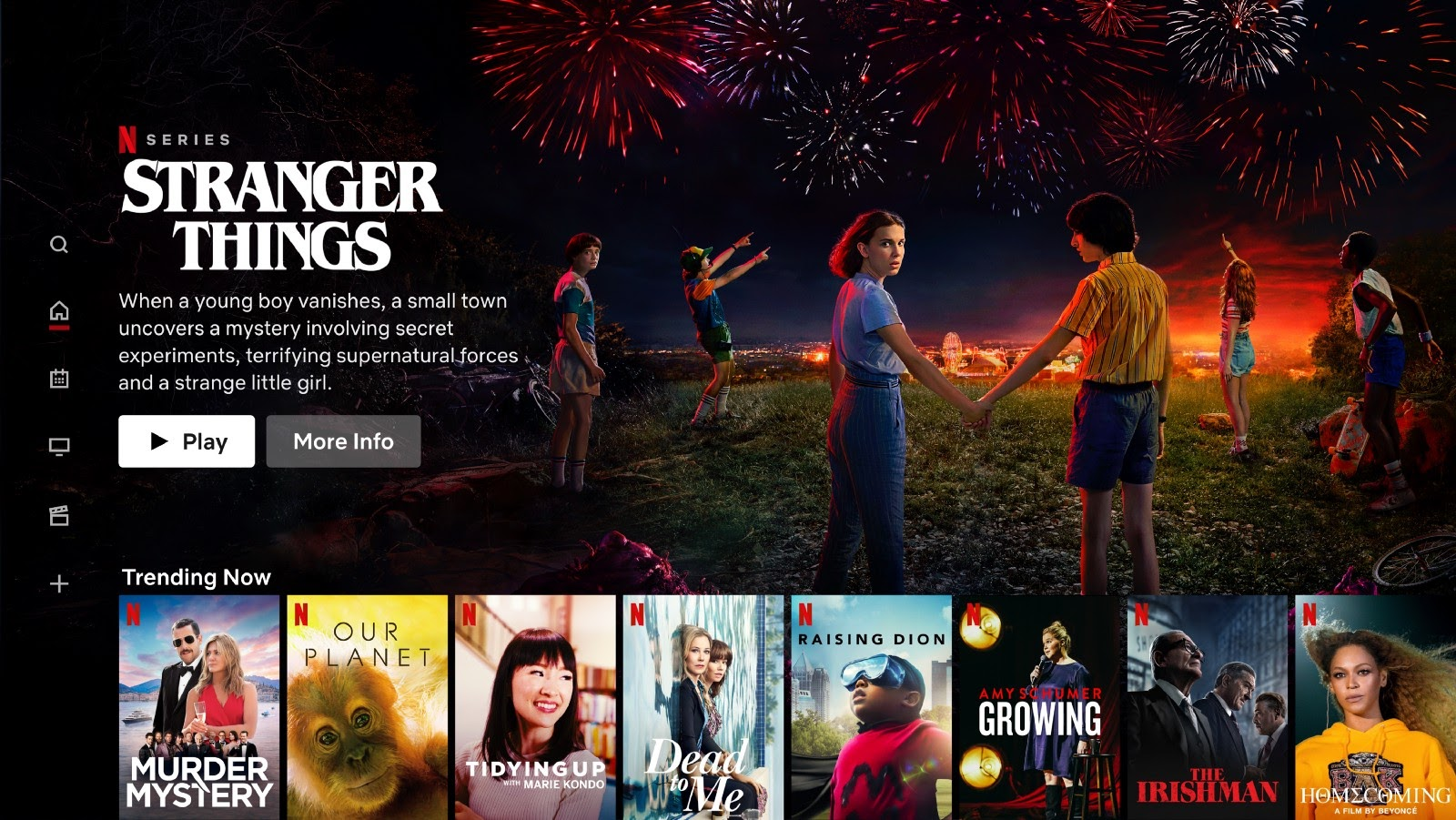 UX and UI of the Netflix homepage