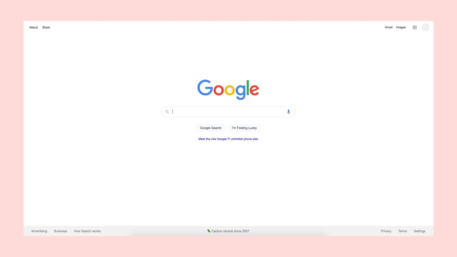 Super simple UX and UI design for the Google homepage