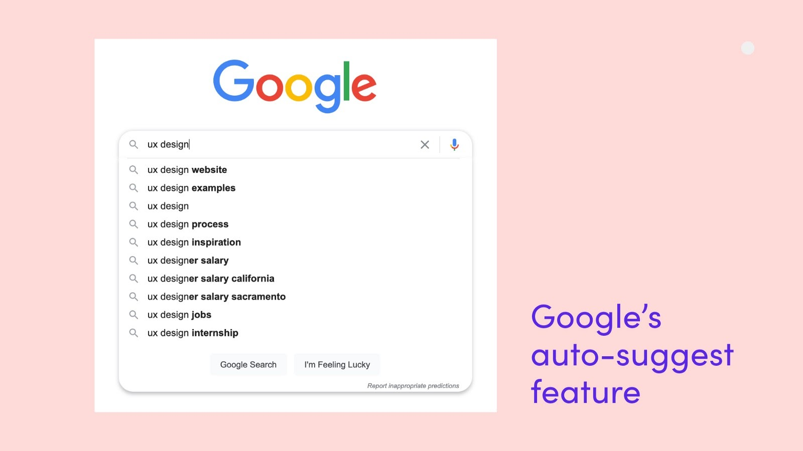 Google's auto-suggest feed solves a problem for the user