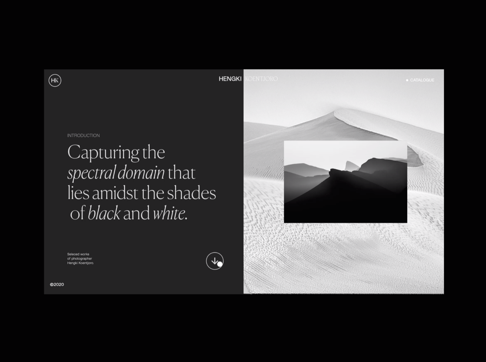 An example of using negative space to create visual hierarchy (Nathan Riley)