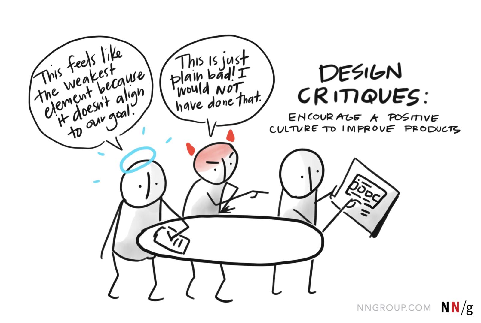 Encourage a positive culture with design critiques (source)