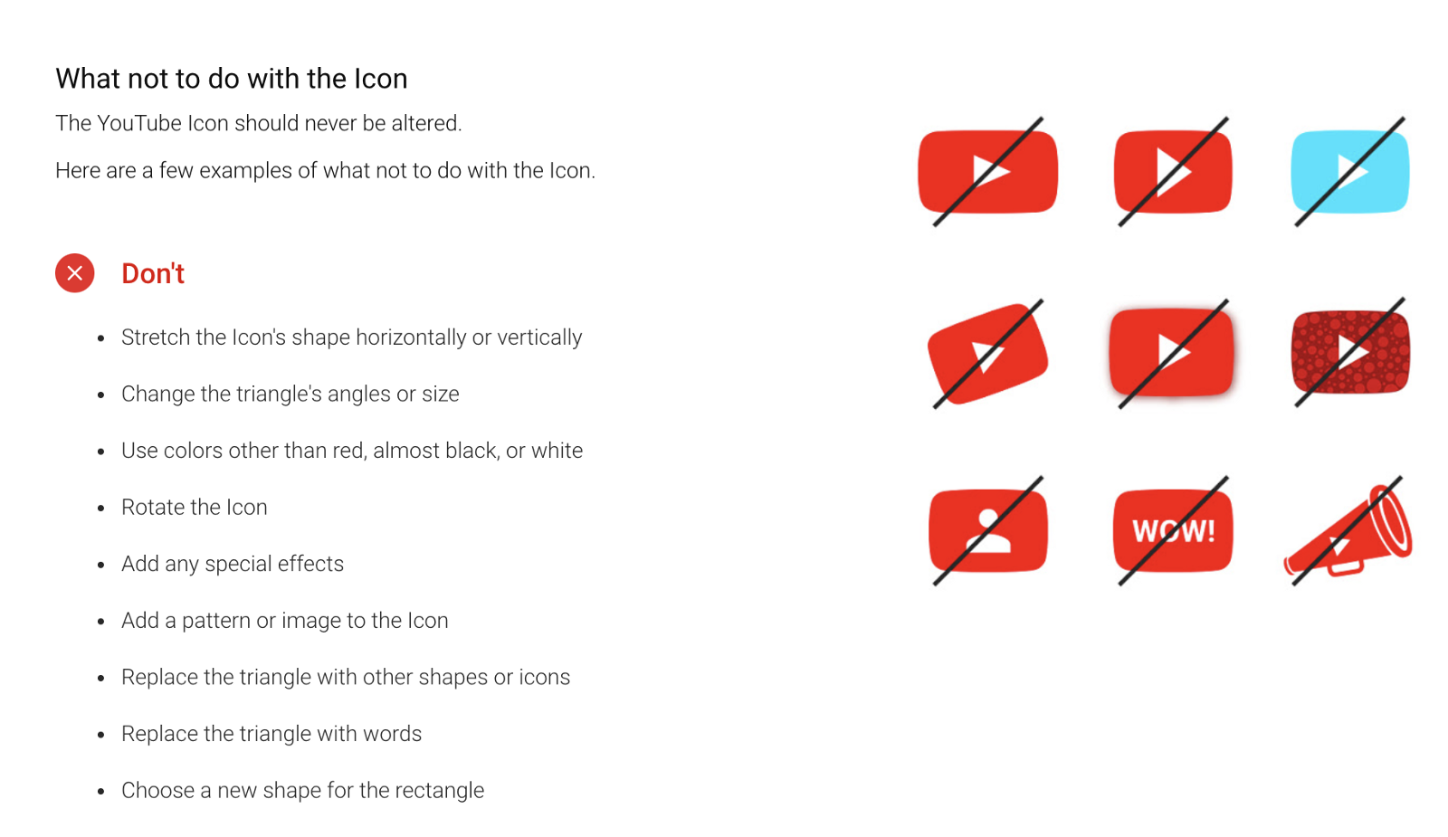 YouTube brand guidelines (source)