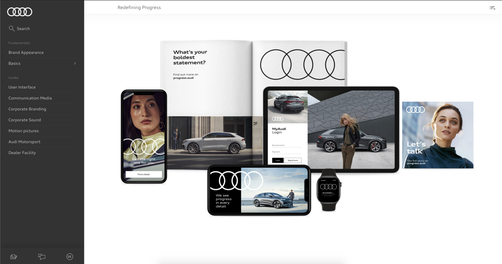 Audi brand guidelines (source)