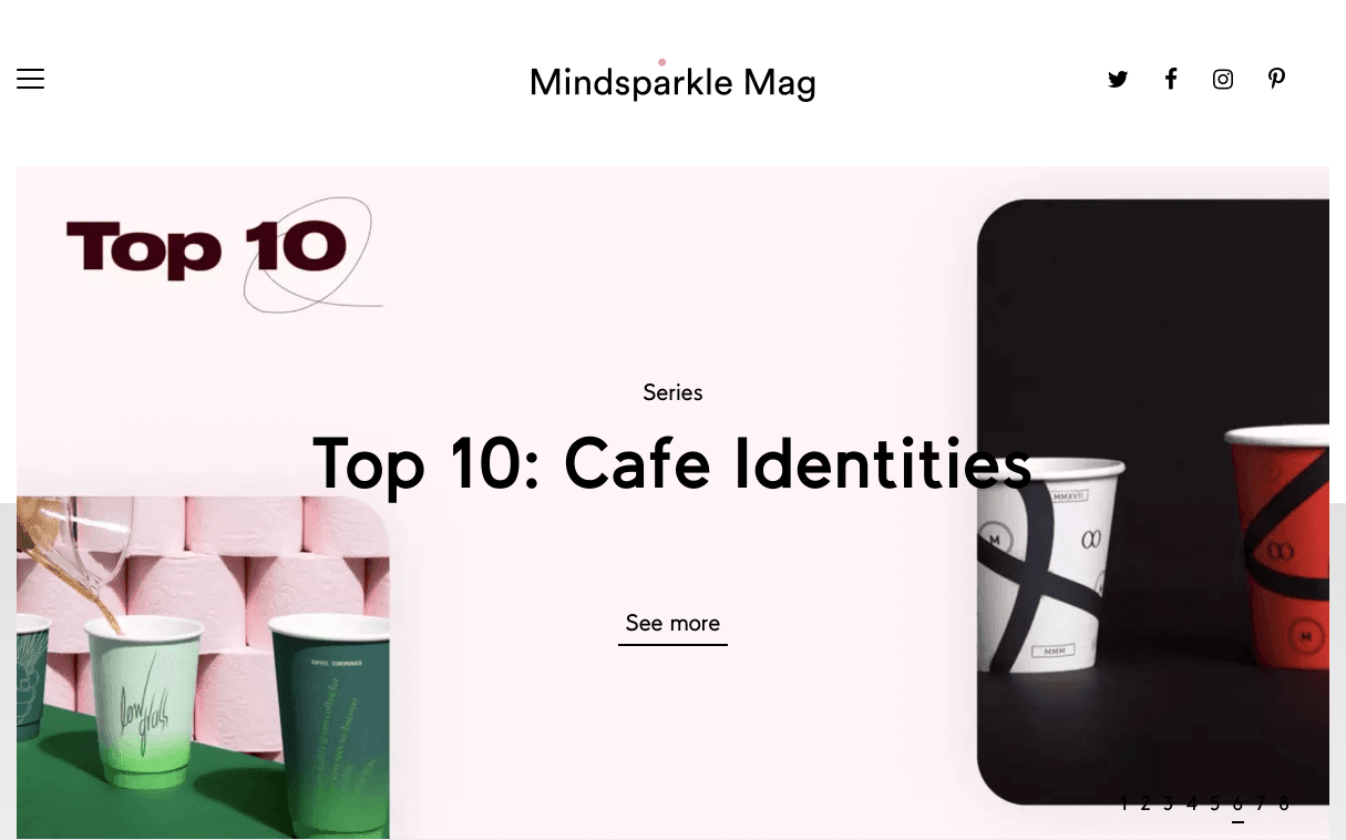 Mindsparkle Mag is currently featuring a series of inspirational cafe brand identities