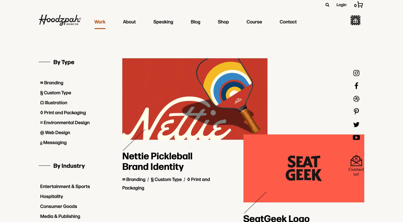 A glimpse at Hoodzpah's inspiring branding portfolio
