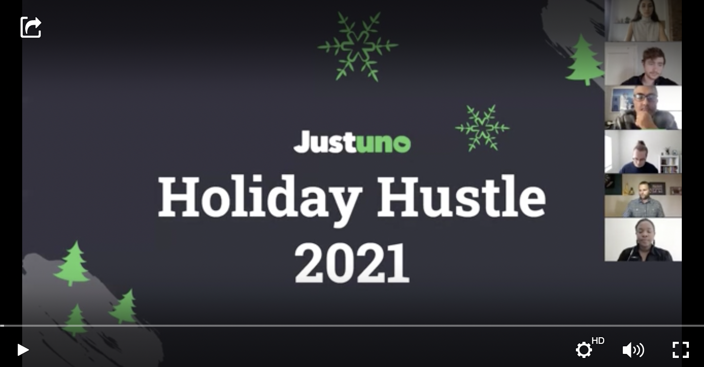 Justuno Holiday Hustle with Gatsby Video thumbail