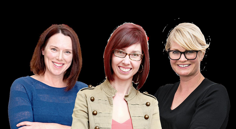 Women at Wide Open Co. Kirsty Reid, Meghan McBain, Joanna Wood