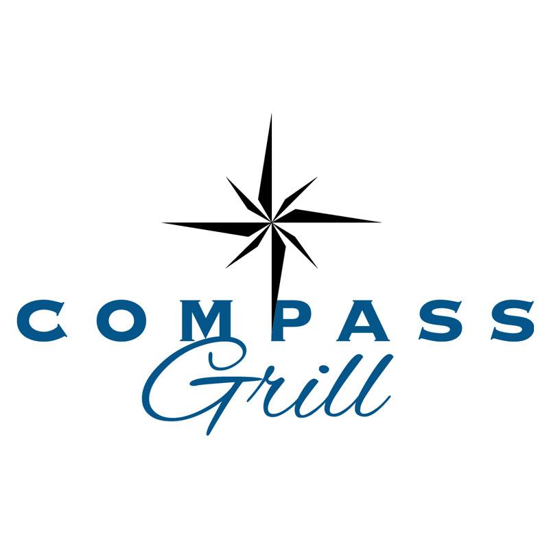 Compass Grill Logo, Fleet Landing