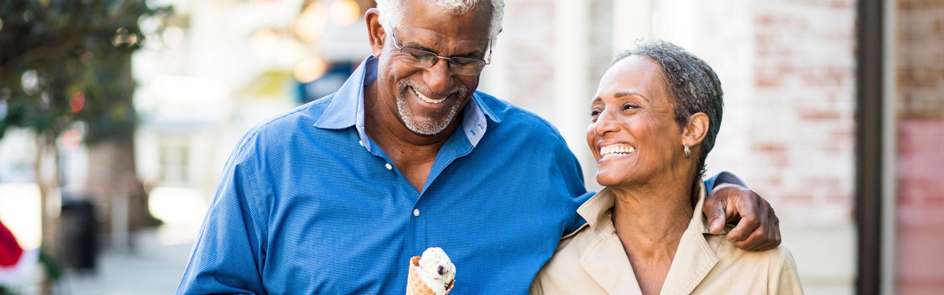 Couple Eating Ice Cream, Fleet Landing
