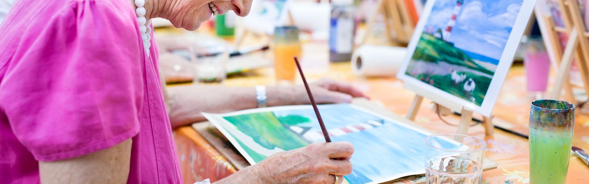 Woman Painting, Fleet Landing