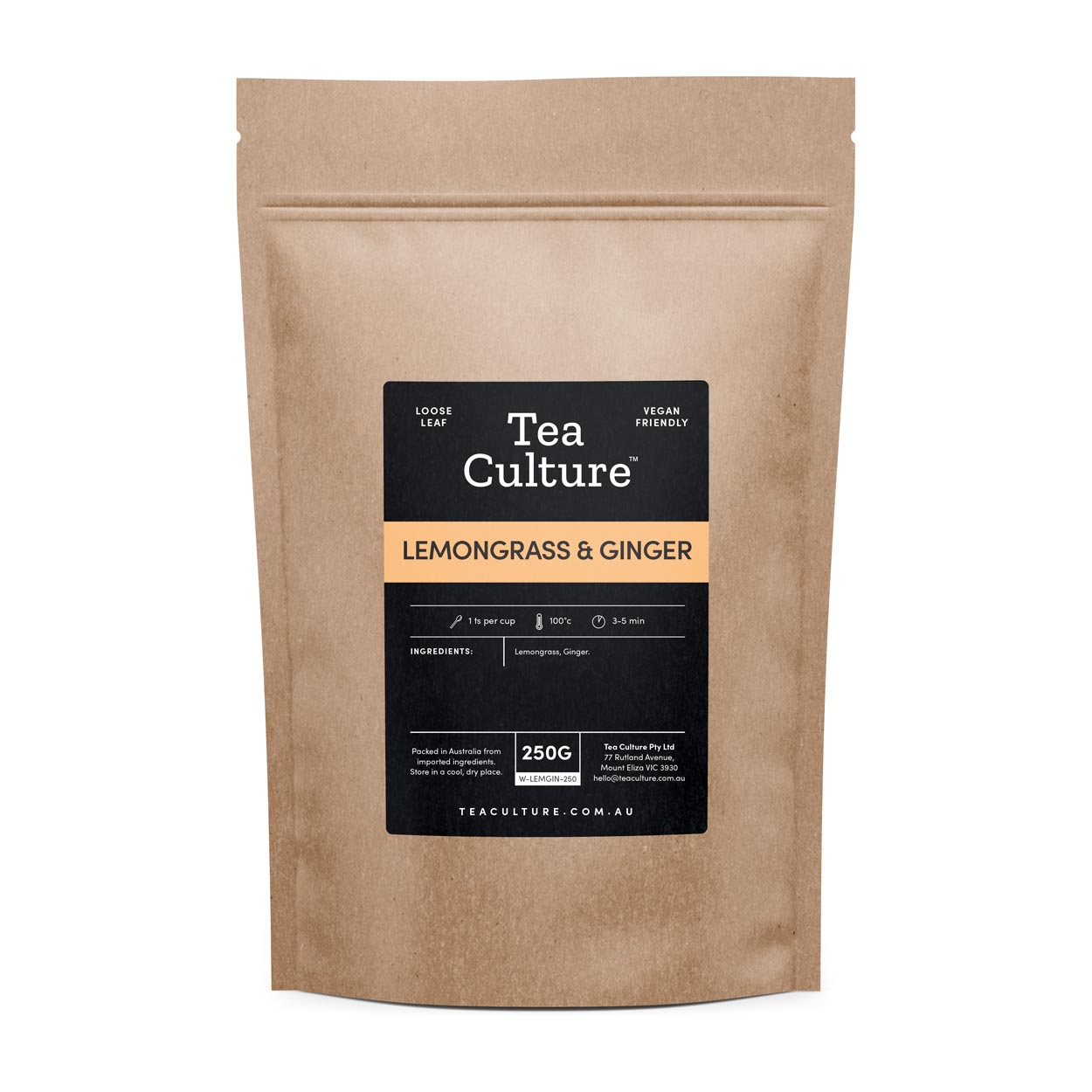 Tea Culture™ 250g Lemongrass & Ginger Loose Leaf