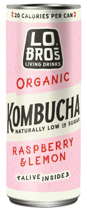 Lo Bros. Organic Kombucha Raspberry Lemonade 250mL