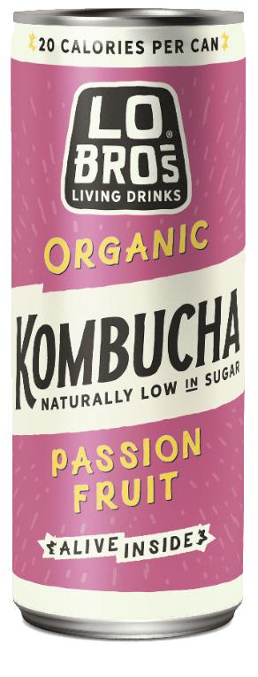 Lo Bros. Organic Kombucha Passion Fruit 250mL