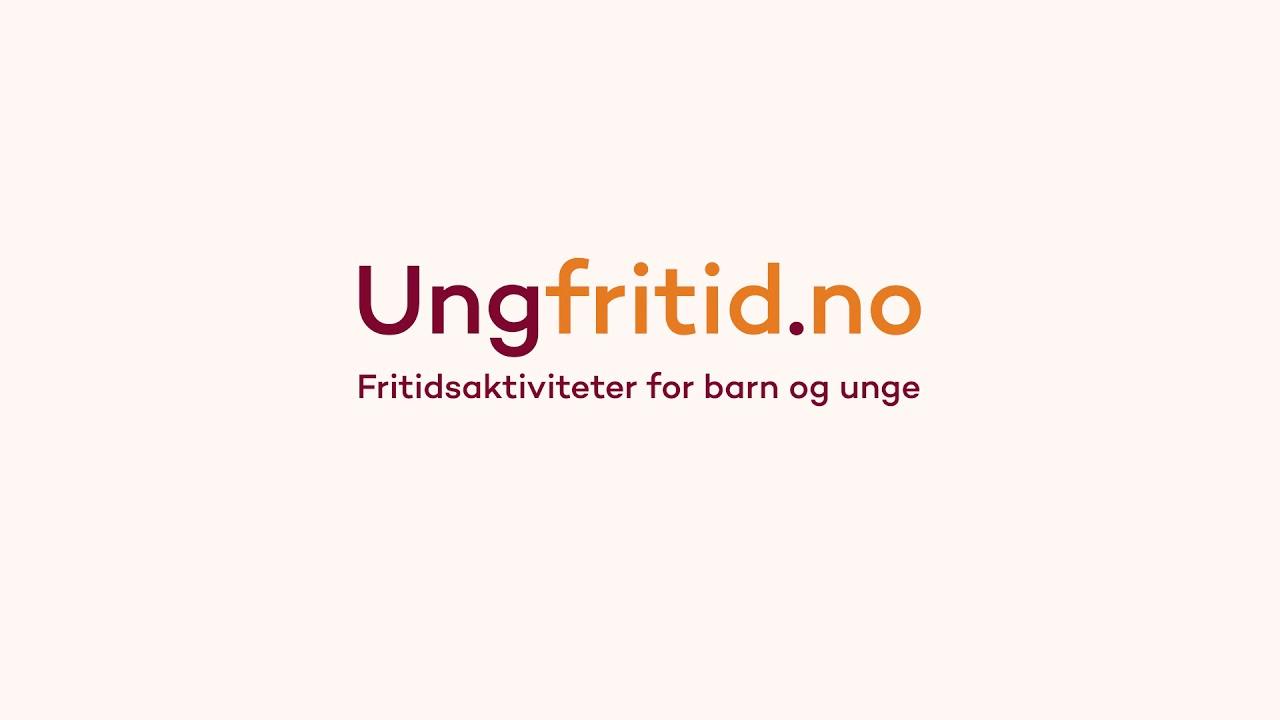 Logo til Ungfritid.no med tekst: Fritidsaktiviteter for barn og unge