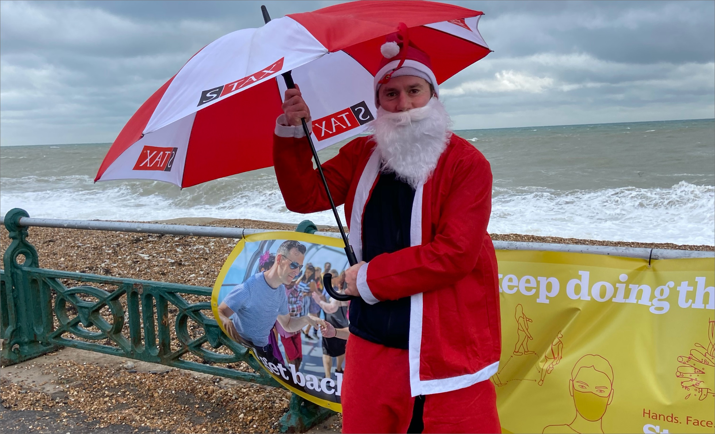 The annual Santa Dash that takes place on Brighton seafront had been cancelled this year due to the pandemic however, organisers had said if participants still wanted to complete the run that they could do so solo.