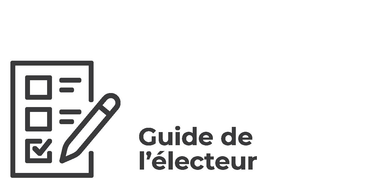 Élections municipales 2021 - vsll - Icônes Guide de l'électeur