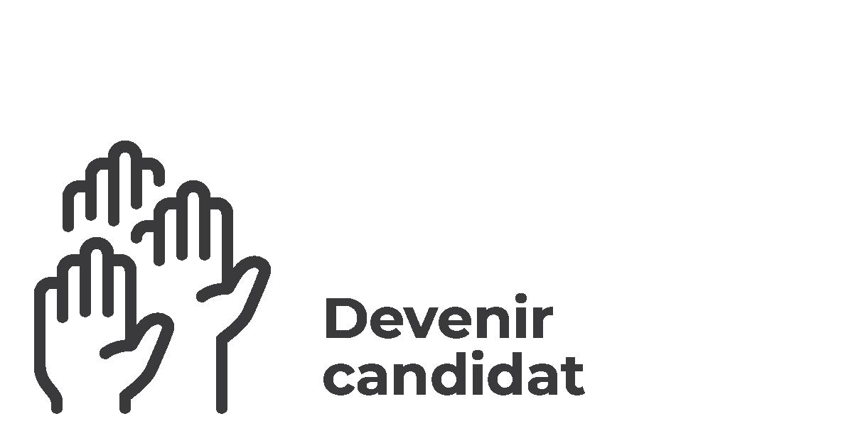 Élections municipales 2021 - vsll - Icônes Devenir candidat