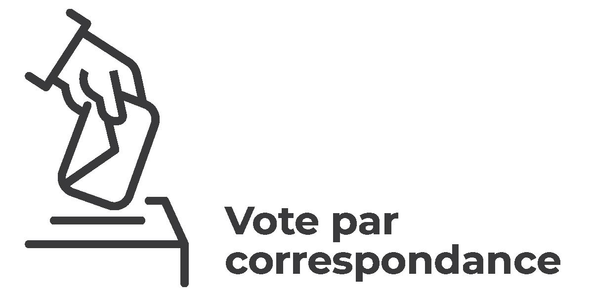 Élections municipales 2021 - vsll - Icône Votes par correspondance