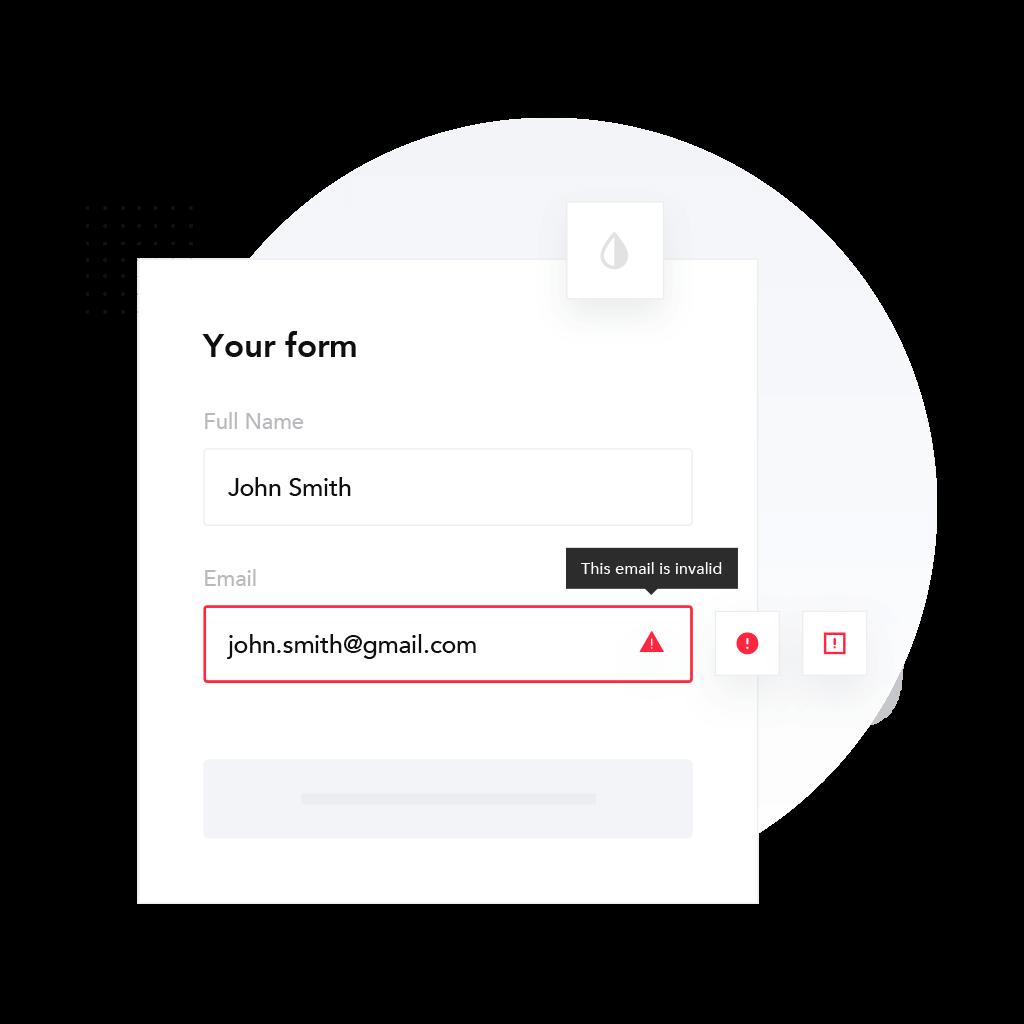 Email checker JavaScript widget