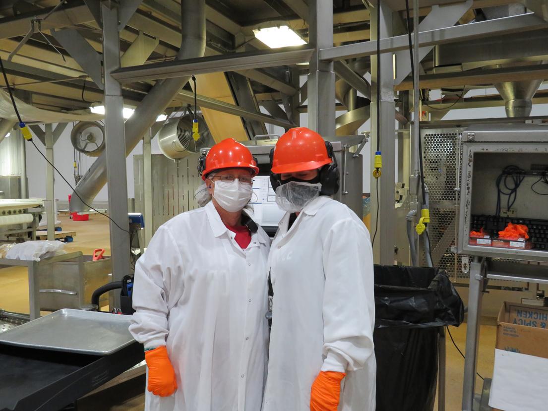 2 workers in orange hats