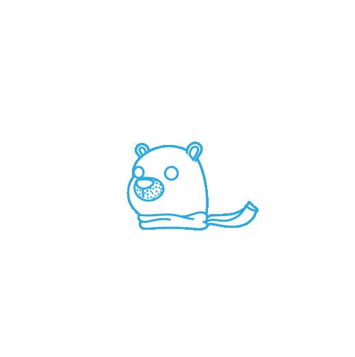 A logo for a snowcone business.