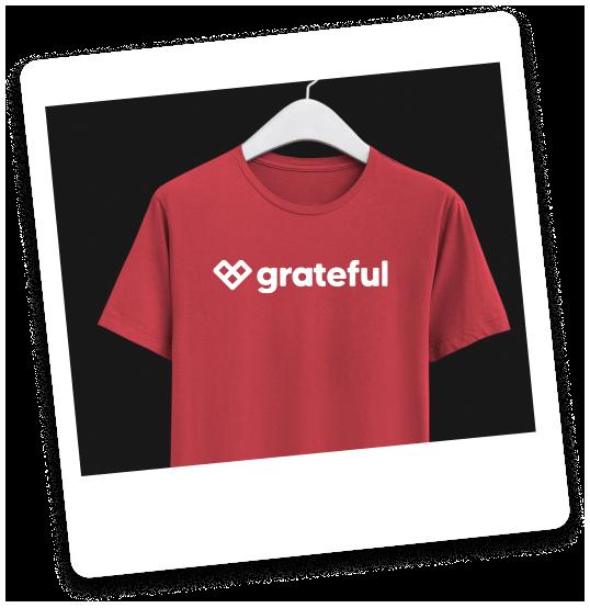 Mockup of Grateful shirt