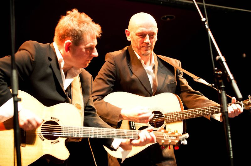 Jinski Duo performing on stage