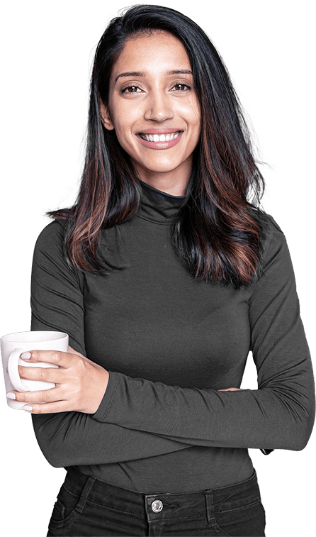 Woman with beautiful teeth smiling