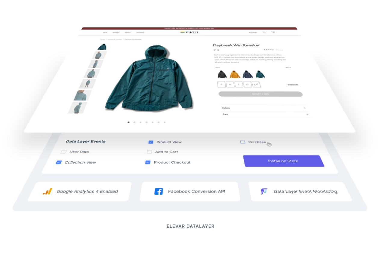 Elevar marketing screenshot