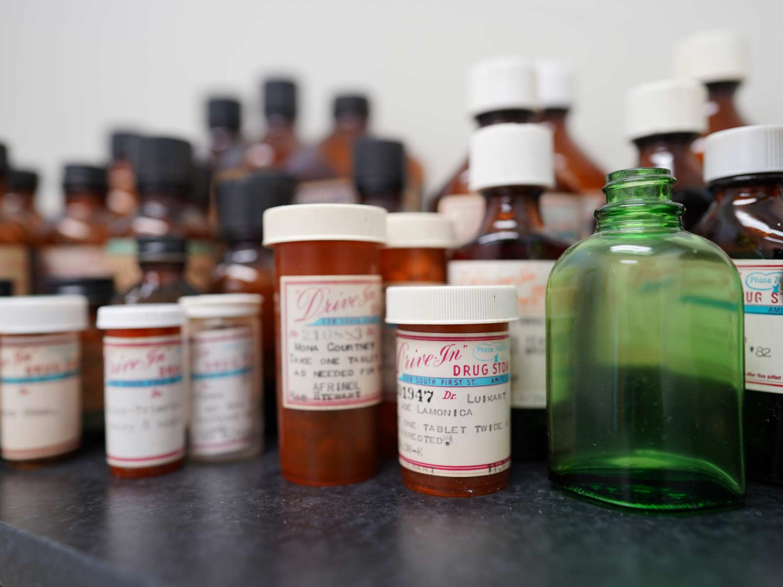 Prescriptions labeled by Drive-In Drug Store