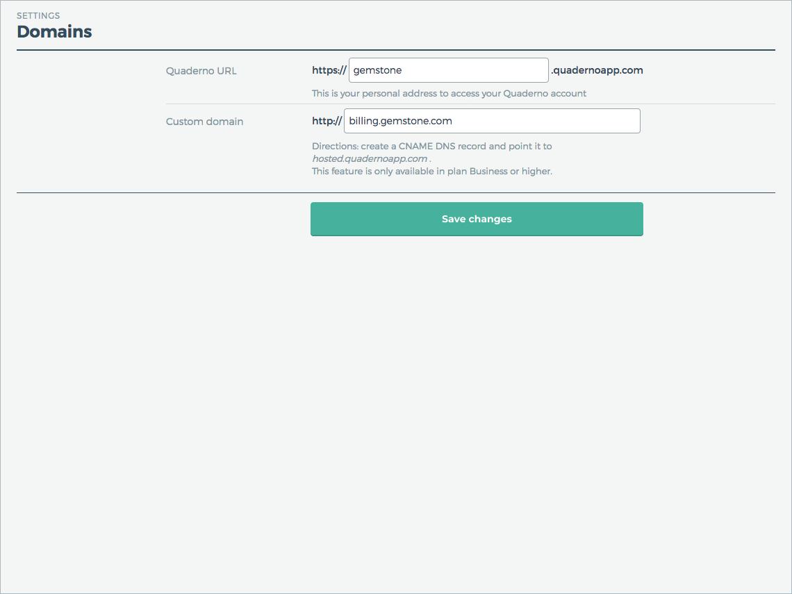 Presentamos las URL Quaderno y los dominios personalizados