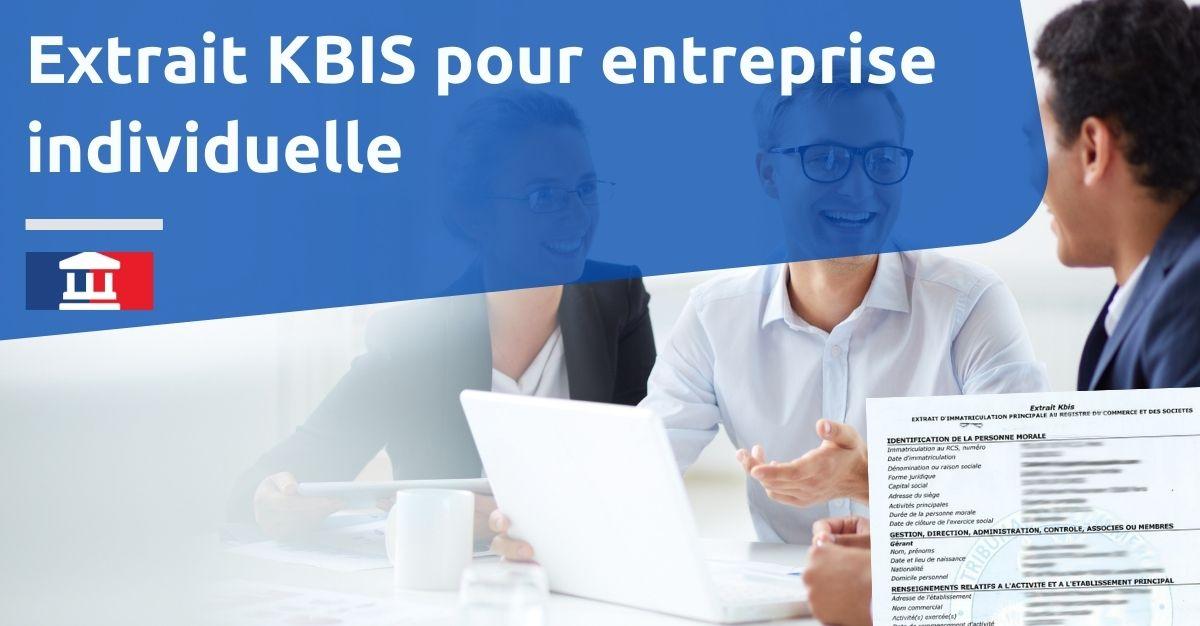 Extrait KBIS pour entreprise individuelle