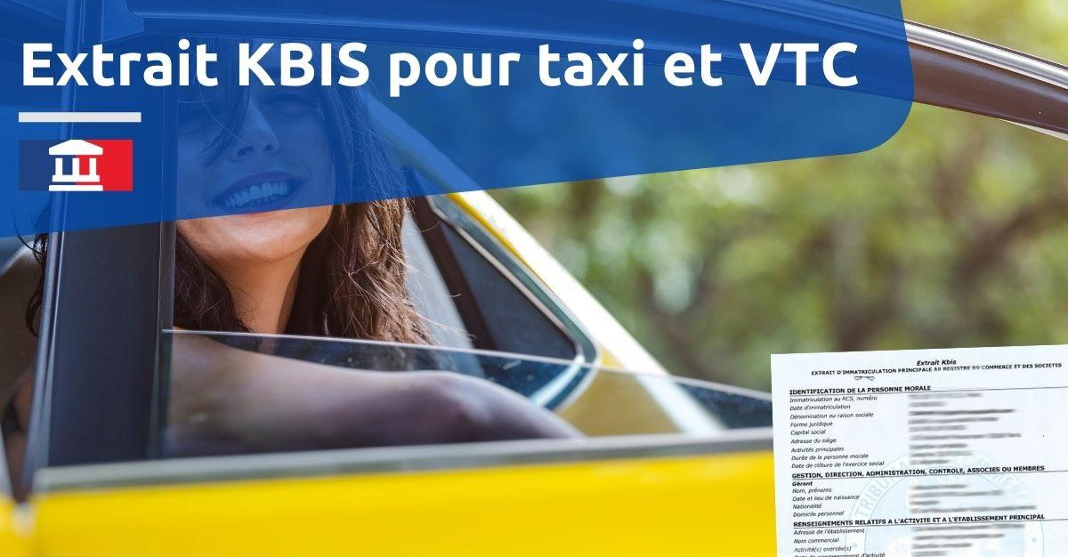 extrait kbis pour taxi vtc