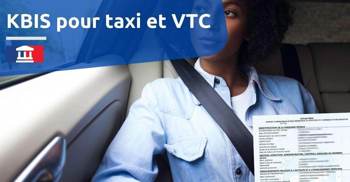 kbis pour taxi vtc