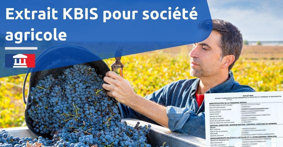 extrait kbis société agricole