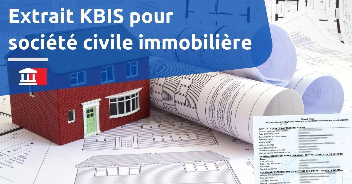 Kbis SCI societe civile immobiliere