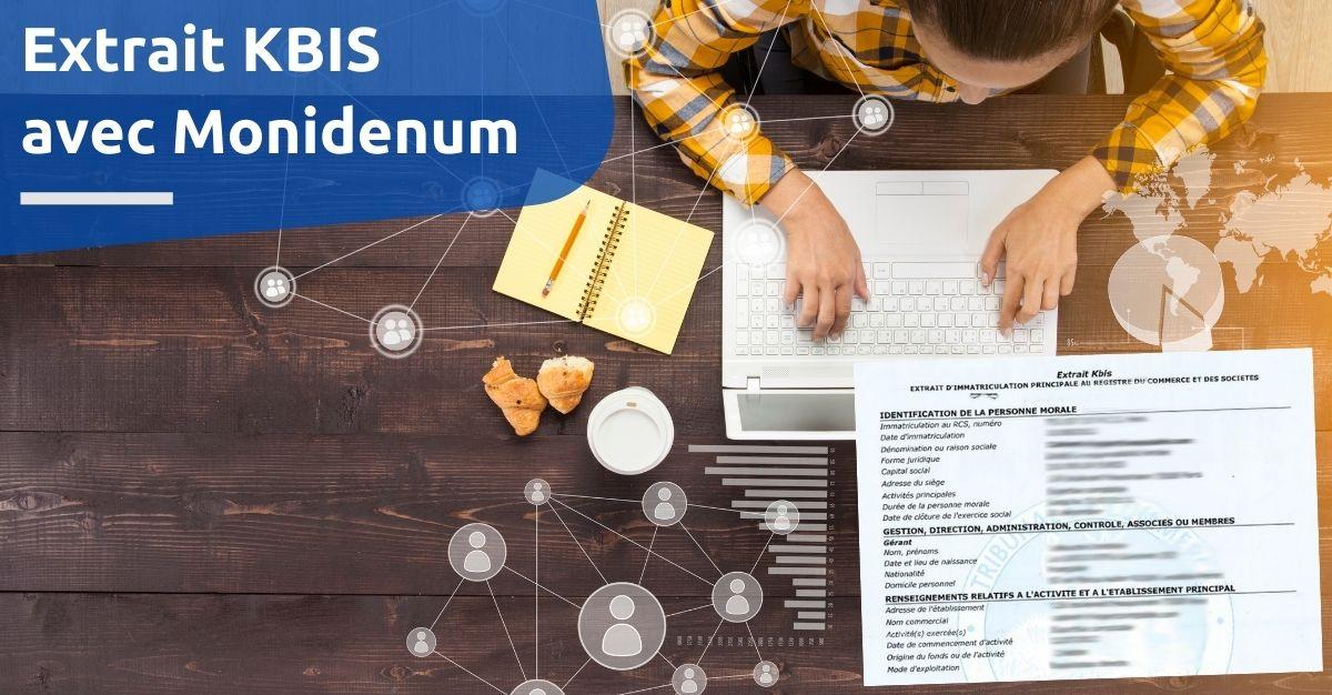 Extrait KBIS avec Monidenum