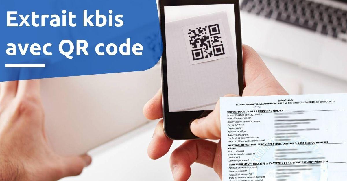 Extrait kbis avec QR code