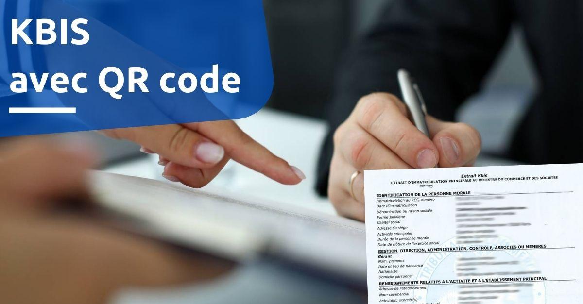 kbis avec qr code