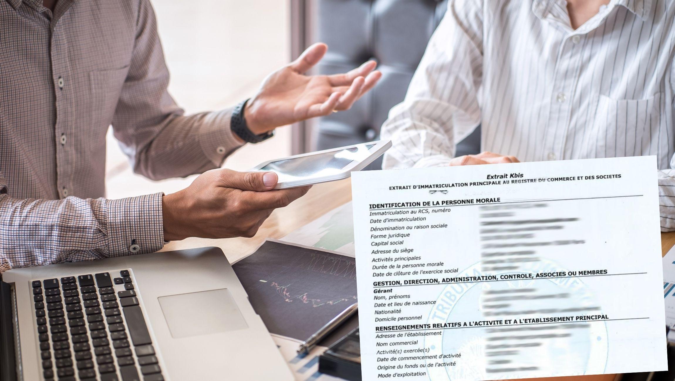 Extrait KBIS RCS registre du commerce et des sociétés