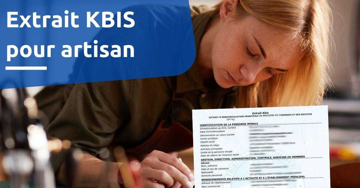 extrait KBIS pour artisan