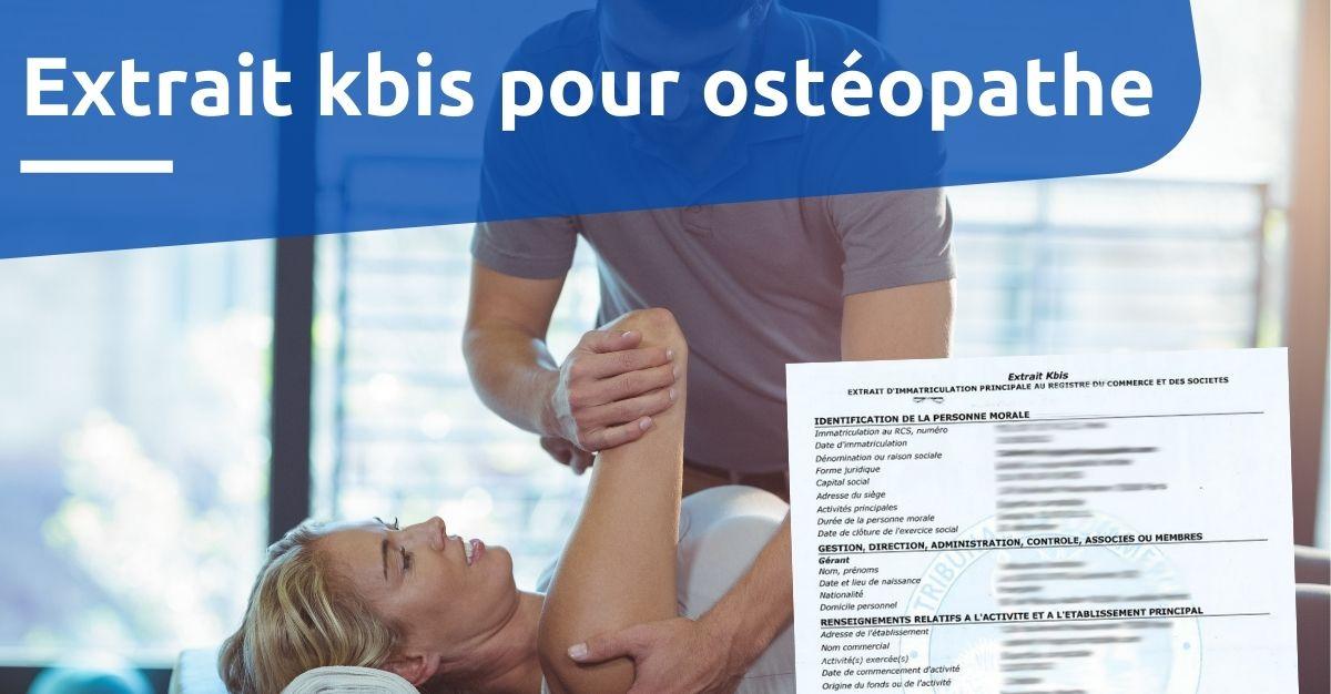 Extrait kbis pour ostéopathe